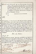 Entreprise des Constructions pour la Partie Meridionale de la Ville de Lyon, 1771