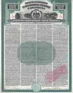 Institution for Encouragement of Irrigation Works and Development of Agriculture (Caja de Prestamos para Obras de Irrigacion), 1908, Gold Bond