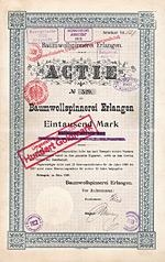 Baumwollspinnerei Erlangen, 1899