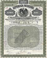Republica Mexicana, Gold Bond, 1899, 100 £