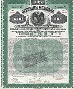 Republica Mexicana, Gold Bond, 1899, 20 �