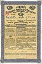 Tehuantepec-National-Eisenbahn-Gesellschaft, 1905, Gold Bond 20 �