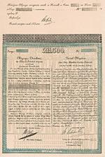 K�nigreich Polen 3 % Partial-Obl. 300 poln. Gulden, BlankWarschau, 1829