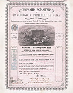 Companhia Estanifera do Ramalhoso e Portella da Gaiva S.A., Lissabon, 1869