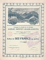 Compagnie du Chemin de fer �lectrique Aigle-S�pey-Diablerets, 1911