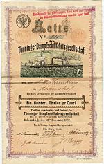 T�nninger Dampfschifffahrtsgesellschaft, 1872