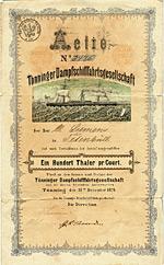T�nninger Dampfschifffahrtsgesellschaft, 1874