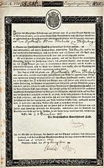 K�nigreich Westphalen - Kingdom of Westphalia - Napoleon-Bond - 6 % Obligation Lit. A 200 Franken, Kassel, 1808