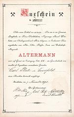Blei-, Silber-, Kupfer-, Eisen- und Dachschiefer-Bergwerk Alterman, Langhecke (Struthütten), 1893n