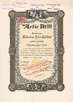 Duisburger Maschinenbau-AG vormals Bechem & Keetman, Aktie von 1897