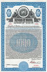 Republic of Bolivia, Bond, 1928