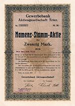Gewerbebank AG, Trier, 1925