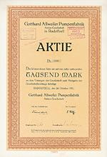 Gotthard Allweiler Pumpenfabrik AG, Radolfzell, 1921