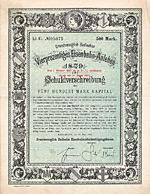 Grossherzoglich Badisches Eisenbahn-Anlehen, Karlsruhe, 1879