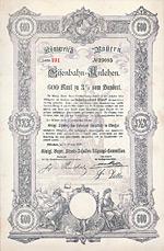 Königreich Bayern, Eisenbahn-Anlehen, 1896