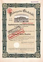 Palmengarten-Gesellschaft, Frankfurt, 1910