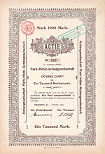 Park-Hotel-AG, Steigenberger-Parkhotel Düsseldorf, 1900