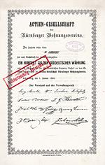 AG Nürnberger Wohnungsverein, 1865