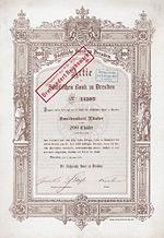 Sächsische Bank zu Dresden, 1870