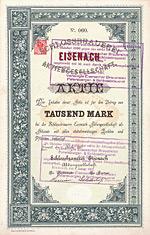 Schlossbrauerei Eisenach, 1889