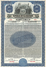 Republic of El Salvador, Gold Bond, 1923