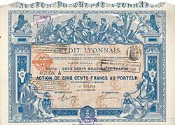 Crédit Lyonnais, Action