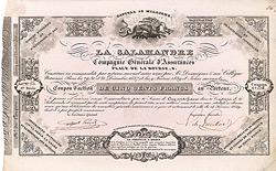 La Salamandre Compagnie Générale d'Assurances, 1839