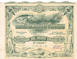 Société Générale des Automobiles Porthos S.A., Paris, 1907