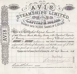 AVIS Steamships Ltd., 1886