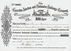 Gorsedda Junction & Portmadoc Railways, 1875