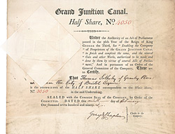 Grand Junction Canal Company, 1796