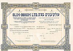 Olim-Bonim, HJerusalem, 1924