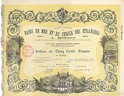 S.A. des Bains de Mer & du Cercle des �trangers a Monaco, 1942