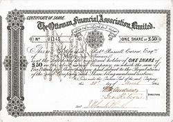 Ottoman Financial Association Limited, London, 1864