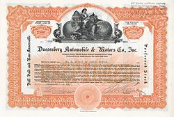 Duesenberg Automobile & Motors Company, 1923