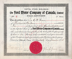 Ford Motor Company of Canada, Walkerville, Ontario, 1904
