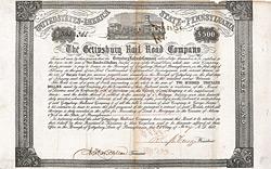 Gettysburg Rail Road Company, 1857