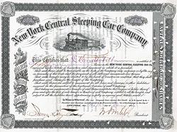 New York Central Sleeping Car Company, New York, 1886, Ausgestellt auf und r�ckseitig original signiert von Cornelius Vanderbilt.