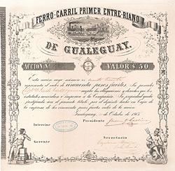 Ferro-Carril primer Entre-Riano de Gualeguay, 1865