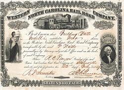 Western North Carolina Rail Road, Slatesville, 1859