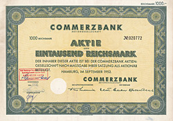 Commerzbank AG , 1952