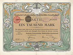 Deutsch-Ueberseeische Elektricitäts-Gesellschaft, 1905
