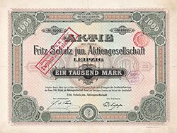 Fritz Schulz jun. AG, Leipzig, 1900