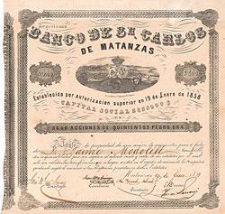 Banco de San Carlos, 1859