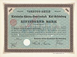 Kleinbahn-AG Kiel-Schönberg