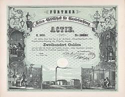 AG für Gasbeleuchtung zu Fürth, 1858