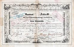 Nieder-Rheinische Güter-Assecuranz Gesellschaft, Wesel, 1840