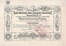 Nieder-Rheinische-Güter-Assekuranz-Gesellschaft, 1868