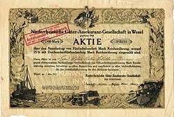 Niederrheinische Güter-Assekuranz-Gesellschaft, 1921
