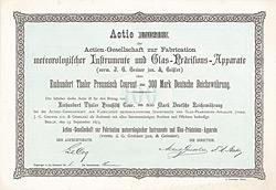 AG zur Fabrication meteorologischer Instrumente und Glas-Präcisions-Apparate (vorm. J.G. Greiner jun. & Geissler)